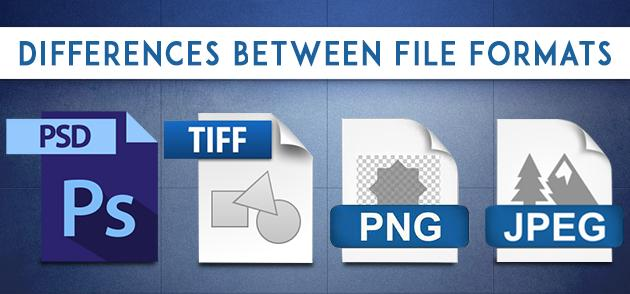 Differences Between File Formats (PSD, TIFF, PNG, JPEG)